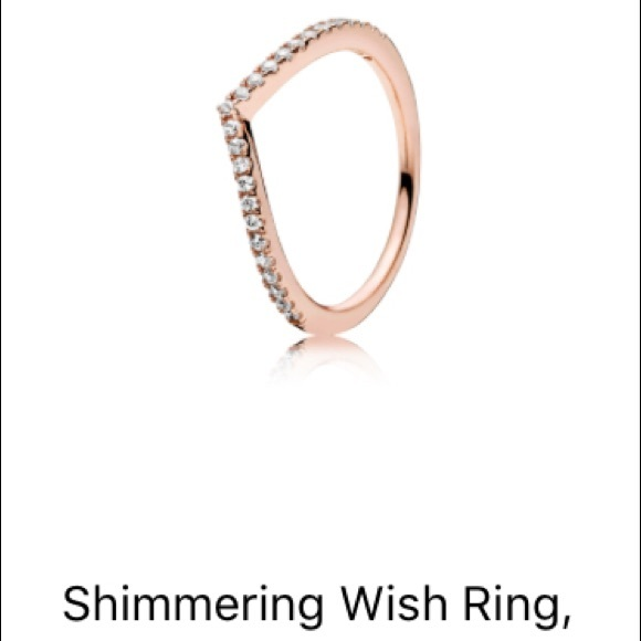 841cb67bf Pandora Jewelry | Shimmering Wish Ring Rose Gold | Poshmark